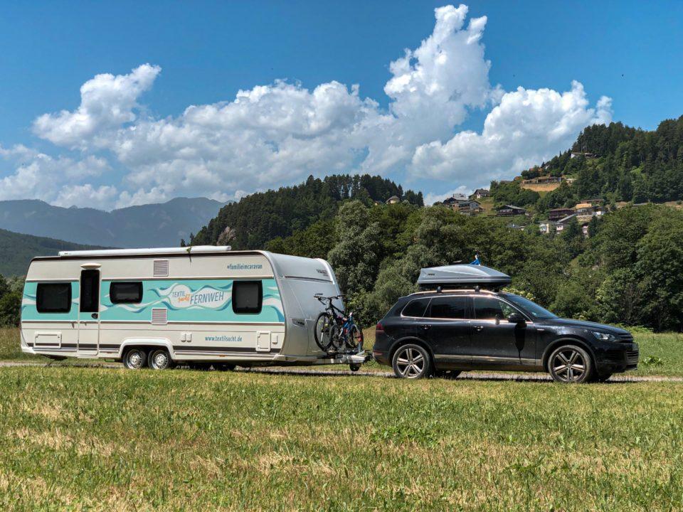 Familie im Caravan