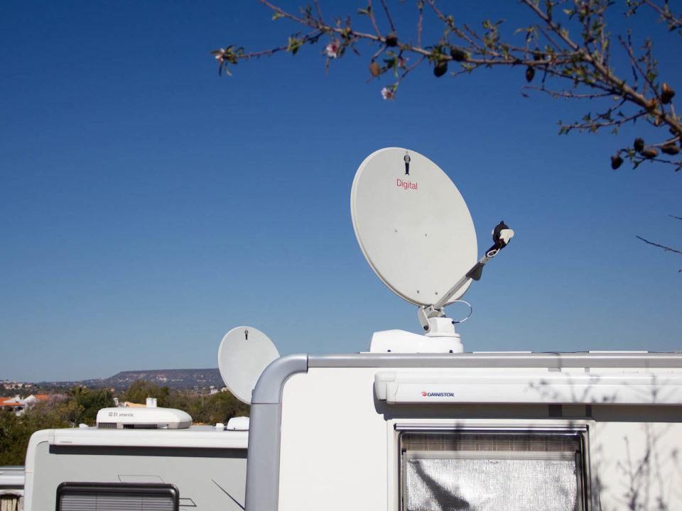 Satellitenanlage Wohnwagen